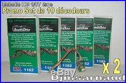 10 Décodeurs 2 Amp DCC & Motorola / 8 broches / Railcom SAI 1182.10 Uhlenbrock