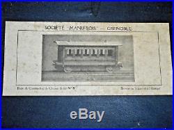 1910 rare wagon BOIS à monter MANU BOIS GRENOBLE + BOITE AU BON MARCHER