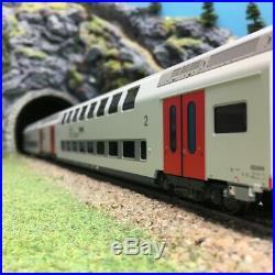 2 Voitures M6 200 Km/h SNCB Ep VI-HO 1/87-LSMODELS 43009