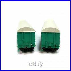 2 Wagon couvert Uass département essai vert Sncf ép V-HO-1/87-LSMODELS 30334