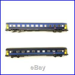 2 voitures Corail Lunéa 1CL et 2CL Ep VI SNCF- N 1/160- PIKO 94339