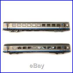2 voitures Corail Vtu TER, Rhône Alpes 1 et 2 CL Sncf Ep VI SNCF-HO 1/87- PIKO 5