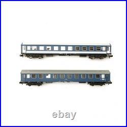 2 voitures Y / B, 2e classe CFR/MAV Orient Express Ep IV-N 1/160-MINITRIX 1537