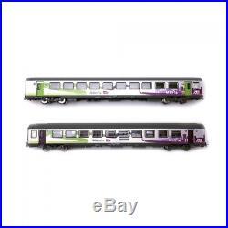 2 voitures corail VTU Intercités Sncf ép VI -HO 1/87-PIKO 58651