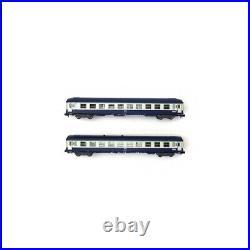 2 voitures couchettes Orient Express 2CL Sncf, Ep IV -N 1/160- MINITRIX 1537