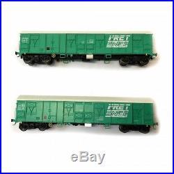 2 wagons Gahkkss 02-6 FRET Sncf ép V -HO-1/87- LSMODELS MW1613