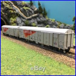 2 wagons Gahkkss 02-6 grd Sernam Sncf epV -HO-1/87-LSMODELS MW1607