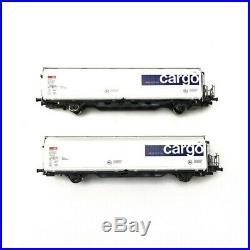 2 wagons HBBILLS-uy SBB CARGO Ep VI-HO 1/87-MABAR 87516