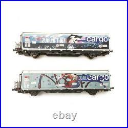 2 wagons HBBILLS-uy SBB CARGO Tagués Ep VI-HO 1/87-MABAR GHO01