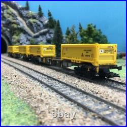 2 wagons porte conteneur excavation Stuttgart 21 Ep VI-HO 1/87-MARKLIN 47131