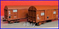 30 336 Ls Models Set De Wagonsgas 19-6+10-6 Rouge Uic Sncf Neuf En Boite