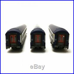 3 Voitures UIC Couchette SNCF Ep IV B9/C9 A4/4B5-HO 1/87-REE VB216