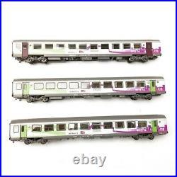 3 Voitures Vtu Intercités A10 B10 B11 SNCF Ep VI-HO 1/87-LSMODELS 41207