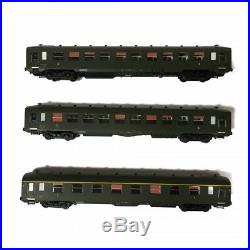 3 voitures DEV AO 2 fois B10 U52, A8 U53 Sncf ép III-HO-1/87-REE VB-139