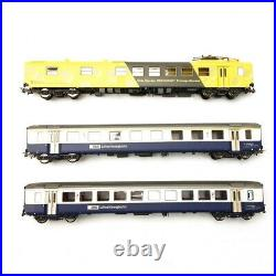 3 voitures Fromage Express Unifié EW I BLS-SBB Ep IV 3R-HO 1/87-PIKO 96787AC
