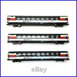 3 voitures Gotthard Panorama Express CFF Ep VI-N 1/160-MINITRIX 15674