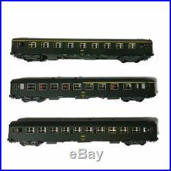 3 voitures UIC A4B5, A9 et B10 Sncf époque IV-HO-1/87-REE VB-098