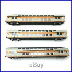 3 voitures VB2N Livrée d'origine SNCF Ep IV-HO 1/87-VITRAINS 1122