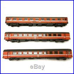 3 voitures Vtu B10tu / VSE A9u SNCF Ep IV-HO 1/87-LSMODELS 40365