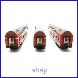 3 voitures à deux niveaux DB Ep VI HO ROCO 74137