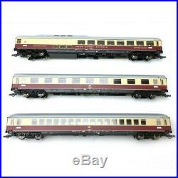 3 voitures du Rheingold DB Ep IV-HO 1/87-ROCO 74135