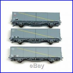 3 wagons EVS Hbis et Hss Kronenbourg paroi plane Sncf ep IV / V -HO-1/87-LSMODEL