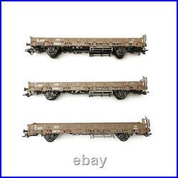 3 wagons transport militaire DSB Ep IV-V-HO 1/87-MARKLIN 46934