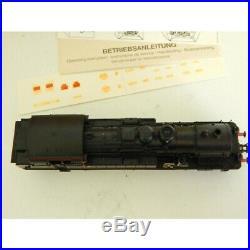 4078 Locomotive Fleischmann Vapeur 232 Tc 415 Noir Filet Rouge Neuve Boite Ho