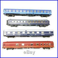 4 voitures Railtour II Freccia del Sol Ep IV SNCB-HO 1/87-LSMODELS MW1906