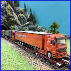 5 wagons autoroute ferroviaire DB + camions -HO-1/87-MARKLIN 47418 DEP47-01