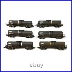 6 wagons-citernes patinés, GATX Ep VI-HO 1/87-ROCO 75972