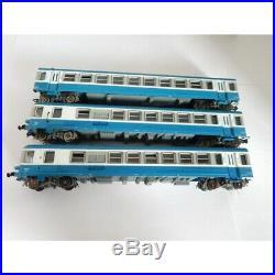 8621 Jouef Autorail 3 Élément Bleu Motrice Xbd 4923 Ho