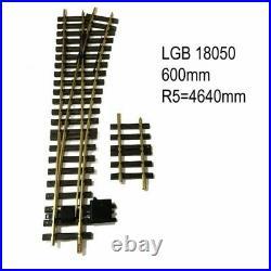 Aiguillage droit droit 600mm R5 4640mm 15 degrés train de jardin -G-1/22.5-LGB