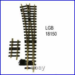 Aiguillage droit gauche manuel R5 à 15 degrés train de jardin -G-1/22.5-LGB 1815