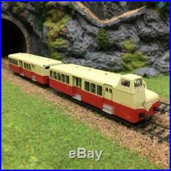 Autorail FNC XBD 5637 + XRBD 9235 Bourges époque III -HO-1/87-R37 41008C