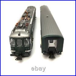 Autorail RBe 4/4 1406 + voiture pilote BDt CFF Ep IV digital son 3R-HO 1/87-PIK