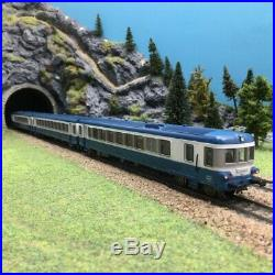 Autorail XBD Bleu 3 éléments SNCF-HO 1/87-JOUEF 8621 DEP195-025