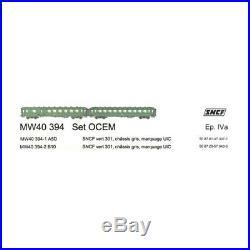 Coffret 2 voitures OCEM UIC Ep IV SNCF-HO 1/87-LSModels MW40394