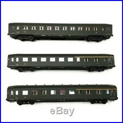 Coffret 3 voitures AO U46 SNCF Ep III-HO 1/87-REE VB198