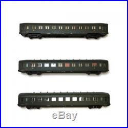 Coffret 3 voitures B10 U46 DEV AO courtes ép IIIb CL2 SNCF-HO 1/87-REE VB-129