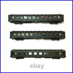 Coffret 3 voitures U52 U53 DEV AO courtes ép IIIa CL1 CL3 SNCF-HO 1/87-REE VB137