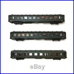Coffret 3 voitures U52 U53 DEV AO courtes ép IIIa CL1 CL3 SNCF-HO 1/87-REE VB-13