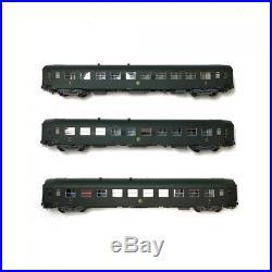 Coffret 3 voitures couchettes UIC B9 ép III CL2 SNCF-HO 1/87-REE VB-170