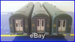 Coffret 3 voitures couchettes UIC B9 ép III CL2 SNCF Ree