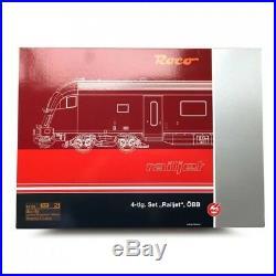 Coffret 4 éléments Railjet ÖBB Ep VI-HO 1/87-ROCO 64188