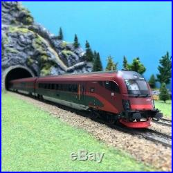 Coffret 4 éléments Railjet ÖBB Ep VI-HO 1/87-ROCO 64189