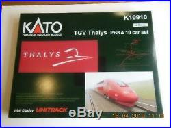 Coffret TGV thalys PBKA 10 echelle N N° K10910 etat neuf