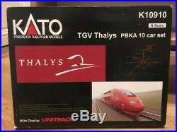 Coffret TGV thalys PBKA 10 echelle N N° K10910 état neuf KATO