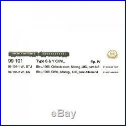Coffret de 2 Voitures S & Y CIWL Ep IV-HO 1/87-LSMODELS 99101