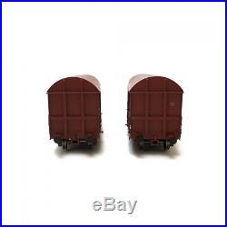 Coffret de 2 wagons Gahkkss 10-19-6 SNCF ép IV-V-HO-1/87-LSMODELS 30336